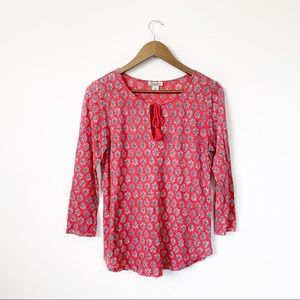Lucky Brand Berry Graphic Long Sleeve Top